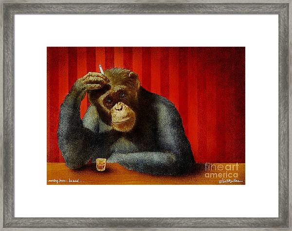 Monkey Bars...he Said... Framed Print by Will Bullas