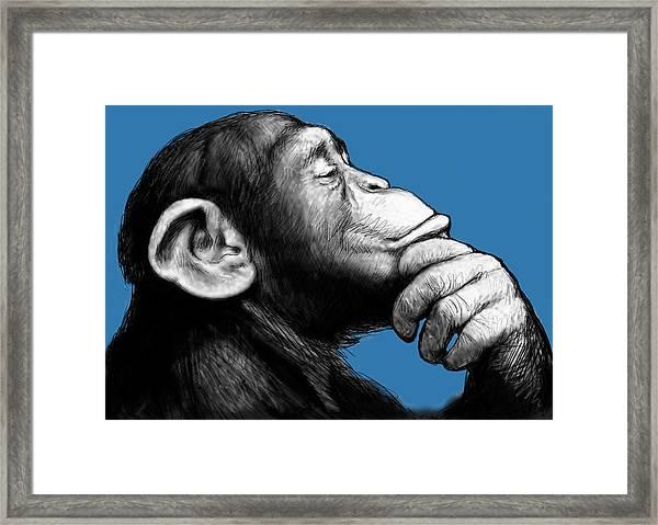 Monkey Pop Art Drawing Sketch Framed Print