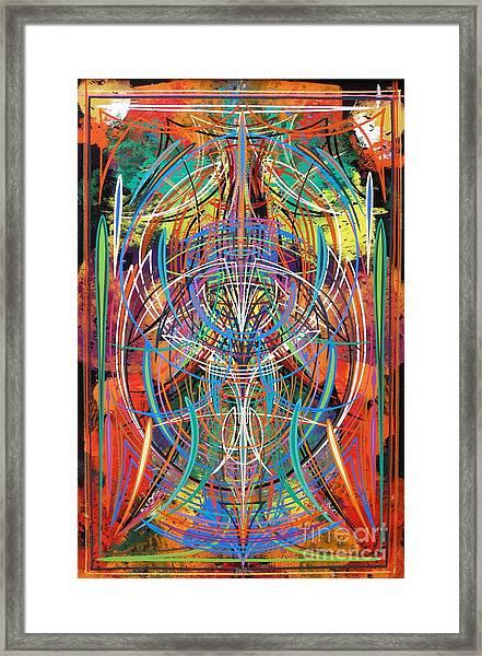 Monk's Maze Framed Print