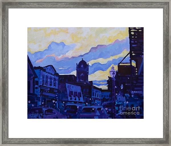 Monmouth Sunset Framed Print