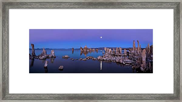 Mono Lake Moon Rise Framed Print