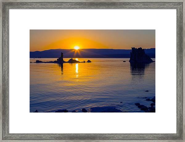 Mono Lake Sunrise Framed Print