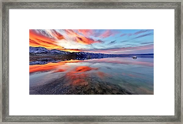 Mono Lake Sunset 2 Framed Print