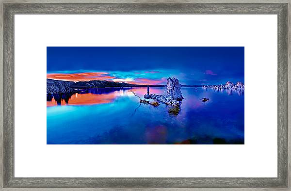 Mono Lake Sunset Framed Print