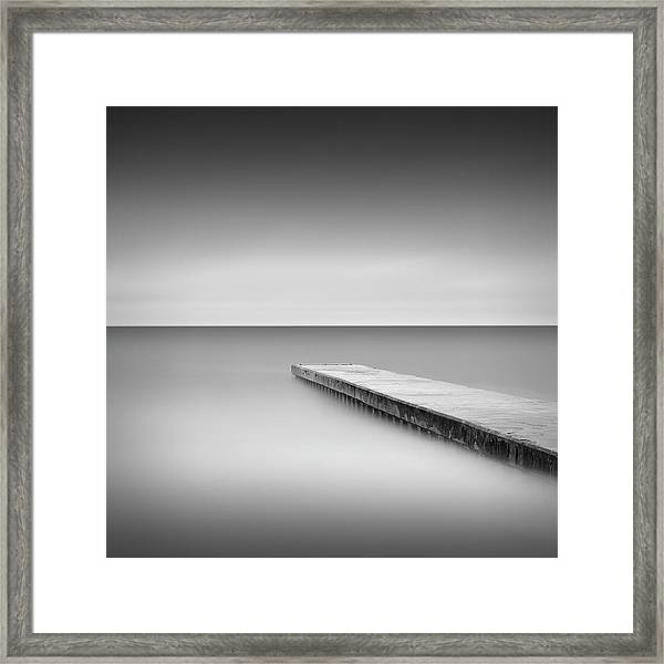 Monochrome Long Exposure Jetty, Blyth Uk Framed Print