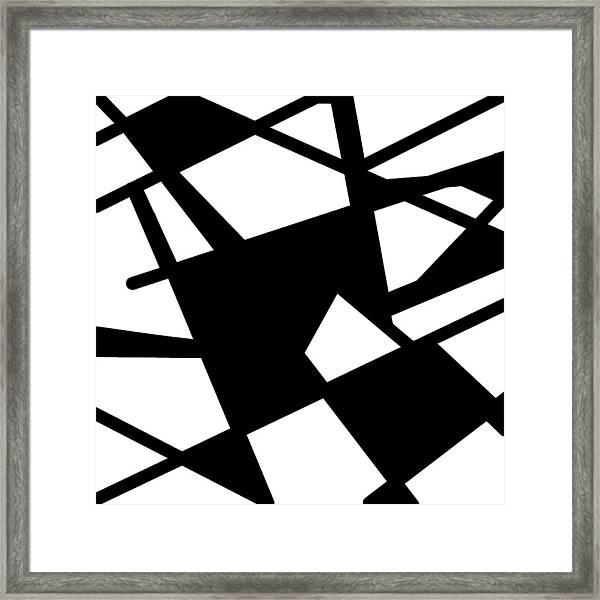 Monochrome New1builder3 Glyph 5 Framed Print