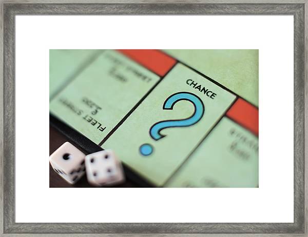 Monopoly Chance - Question Mark, Concept Framed Print by Marco Rosario Venturini Autieri