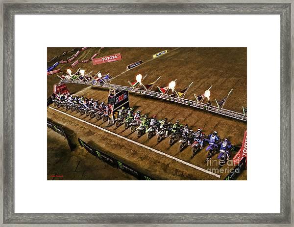 Monster Energy Ama Supercross  450sx Main Framed Print