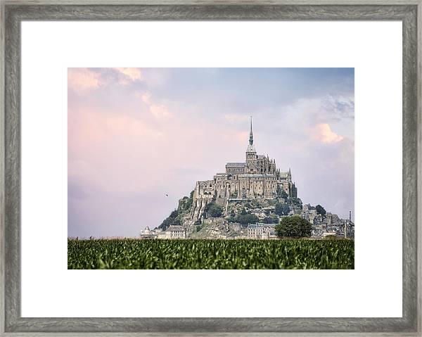 Mont Saint-michel Castle Framed Print