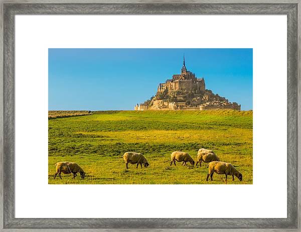 Mont St-michel Framed Print by Jean Surprenant