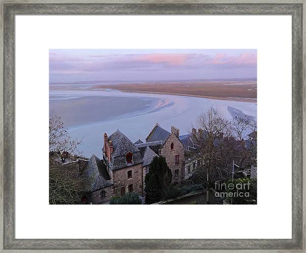 Mont St Michel Tower View Framed Print