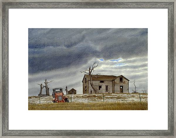Montana Abandoned Homestead Framed Print by Paul Krapf