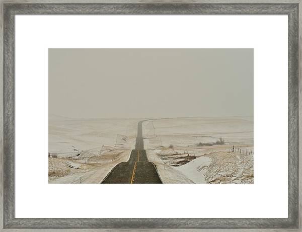 Montana Highway 3 Framed Print