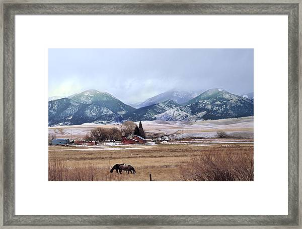 Montana Ranch - 1 Framed Print