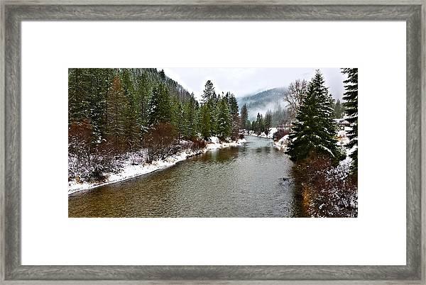 Montana Winter Framed Print