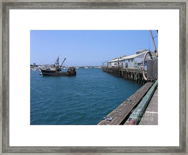 Monterey Municipal Wharf Framed Print