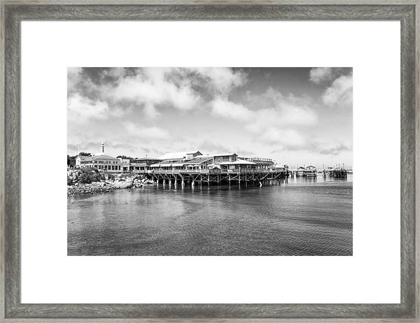 Framed Print featuring the photograph Monterey Old Fisherman's Wharf by Priya Ghose