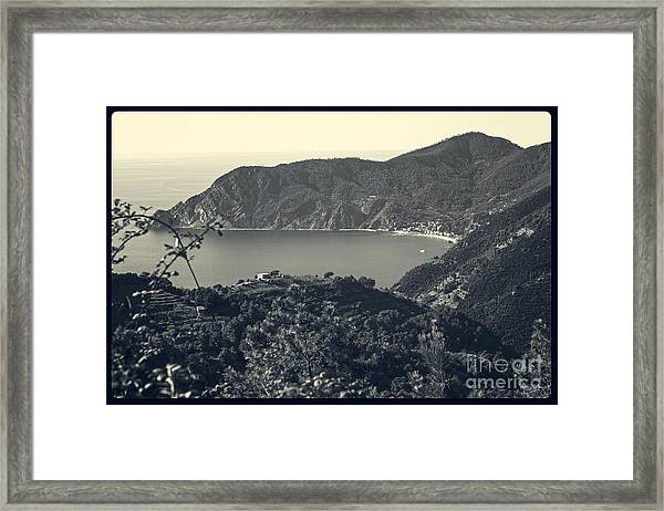 Monterosso Al Mare From Above Framed Print