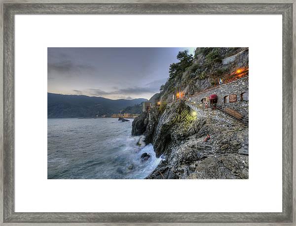 Monterosso At Sunset Framed Print