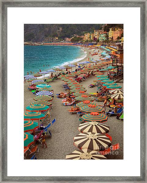 Monterosso Beach Framed Print