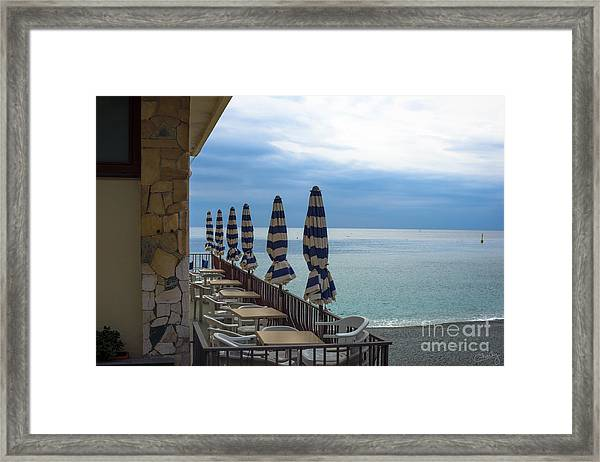 Monterosso Outdoor Cafe Framed Print