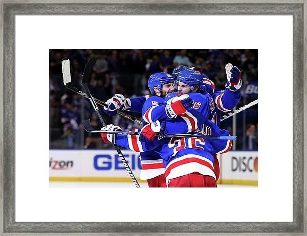 Montreal Canadiens V New York Rangers - Framed Print by Elsa