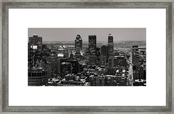 Montreal City Framed Print