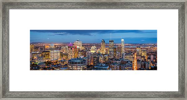Montreal Panorama Framed Print