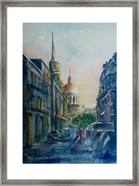 Montreal Skyline Framed Print