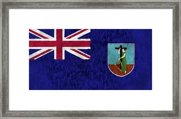 Montserrat Flag Framed Print