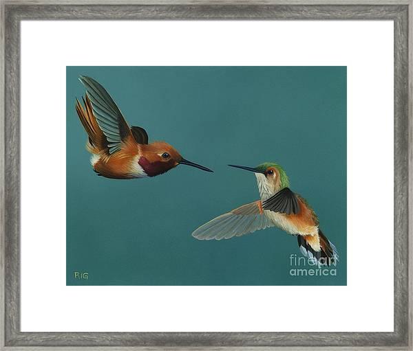 Monty And Tiffany Framed Print