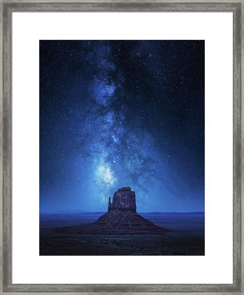 Monument Milkyway Framed Print