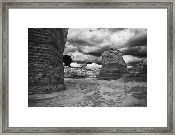 Monument Rock Framed Print
