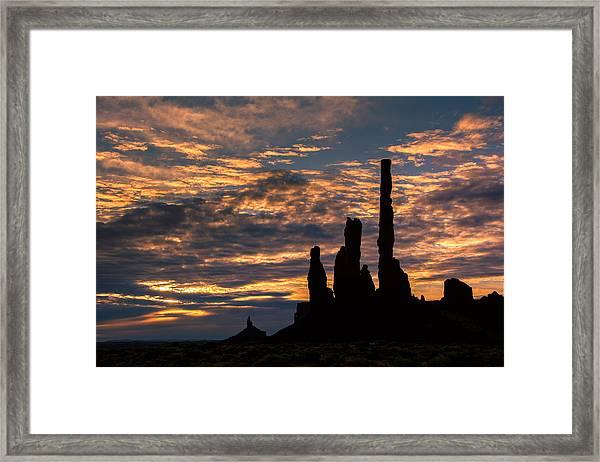 Monument Valley At Sunrise Framed Print
