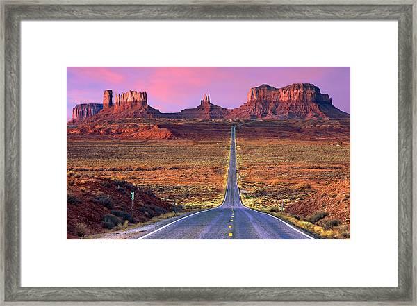 Monument Valley Framed Print by Darryl Wilkinson