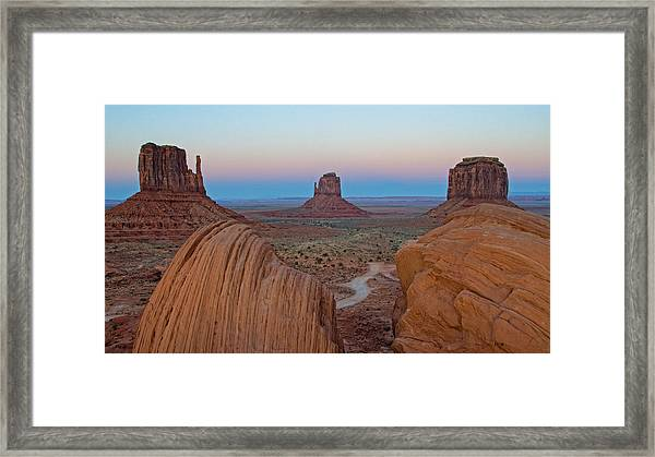 Monument Valley Evening Framed Print