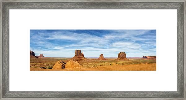 Monument Valley Panorama - Arizona Framed Print