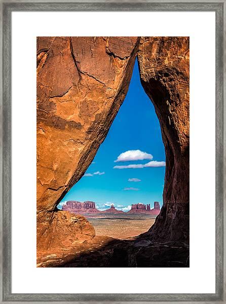 Monument Valley Through A Tear Framed Print