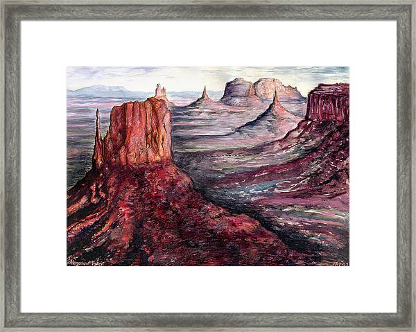 Monument Valley Arizona - Landscape Art Painting Framed Print