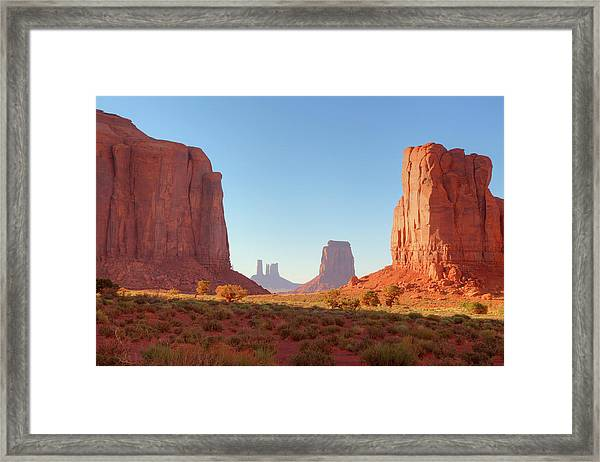 Monument Valley Window View Framed Print