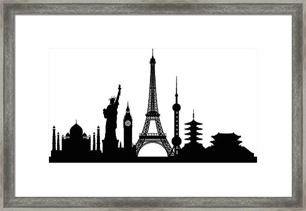 Monuments Buildings Are Complete And Framed Print