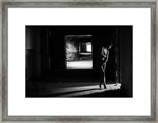 Mood From Light And Body Framed Print
