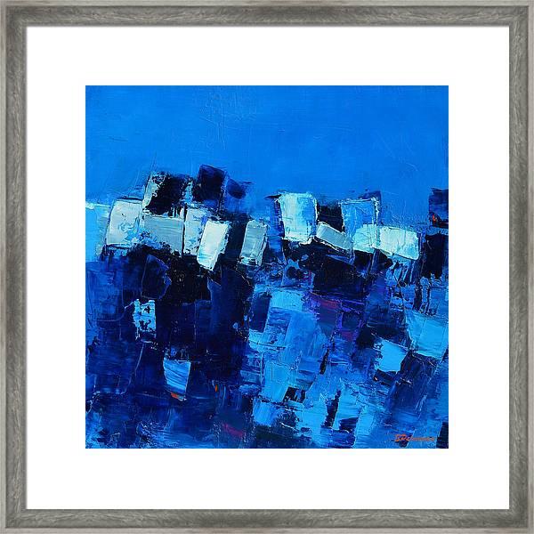 Mood In Blue Framed Print