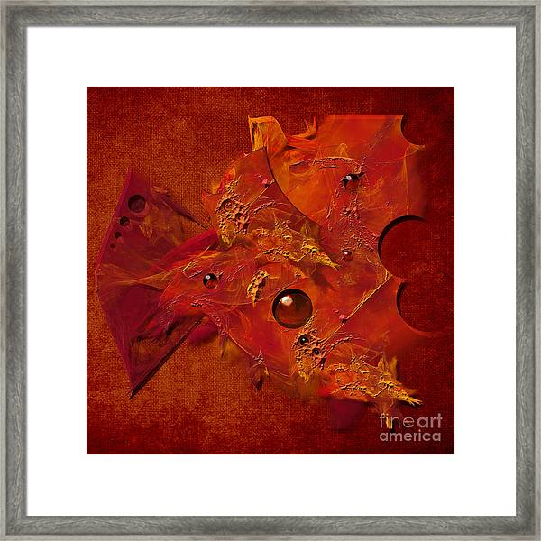 Mood In Orange Framed Print