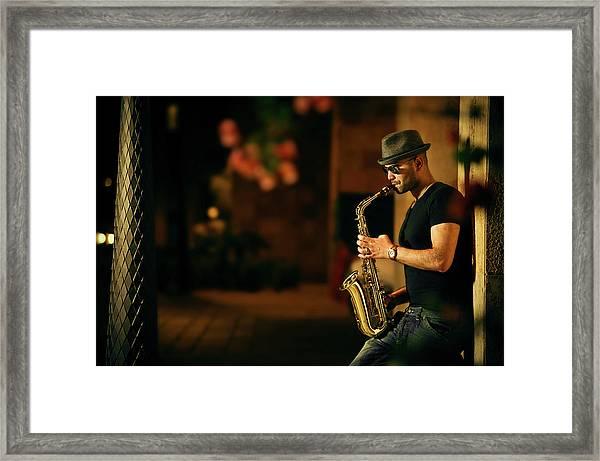 Mood With Jazz Framed Print