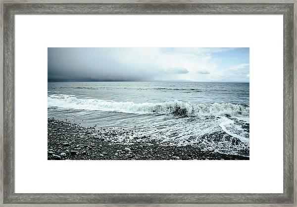 Moody Shoreline French Beach Framed Print