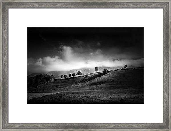 Moody Autumn Day Framed Print