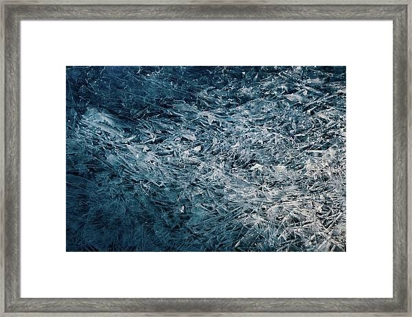 Moody Blue Framed Print by Darlene Hewson