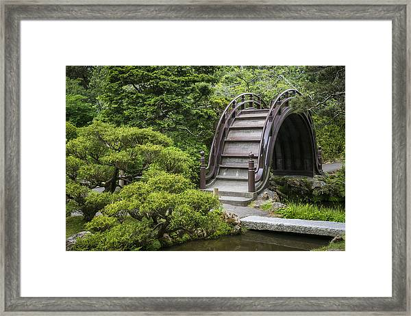 Moon Bridge - Japanese Tea Garden Framed Print