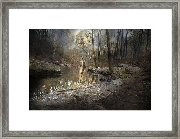 Moon Camp Framed Print